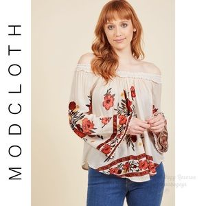 ModCloth Appropriately Poetic Long Sleeve Top